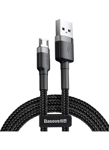 Baseus Samsung Micro Usb Şarj Kablosu 2.4A Renksiz